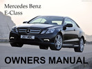 Thumbnail MERCEDES BENZ 2011 E-CLASS E350 E550 COUPE CABRIOLET OWNERS OWNER'S USER OPERATOR MANUAL